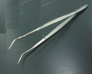 MA009 牙用鑷(雙彎有/無定位) (Cotton & Dressing Pliers - Double Fold with/